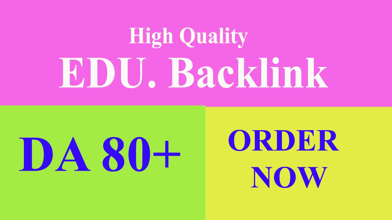 Provide 10 EDU. gov backlink on high authority website.