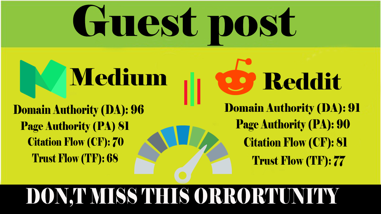 write and Publish 2 High-Quality Guest post on Medium and Reddit