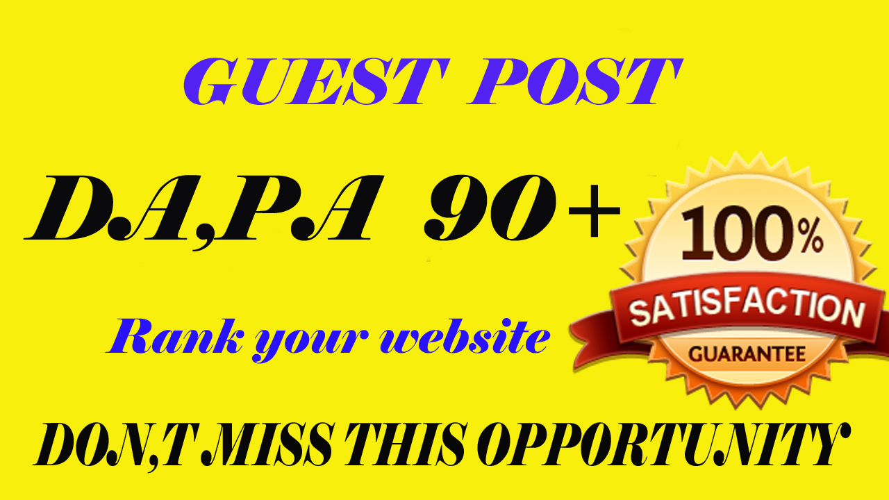 I will write and Publish 5 Guest Post On High Authority Website for your seo ranking