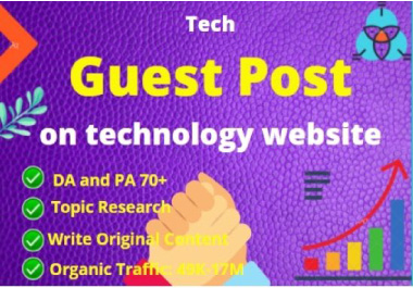 I will publish 2 tech guest post on technology website