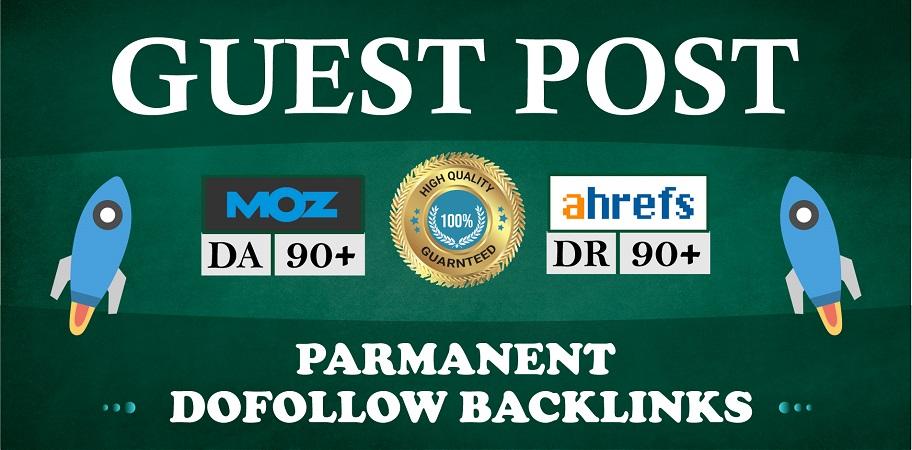 Guest Post on DA 90+ website with parament DoFollow Links