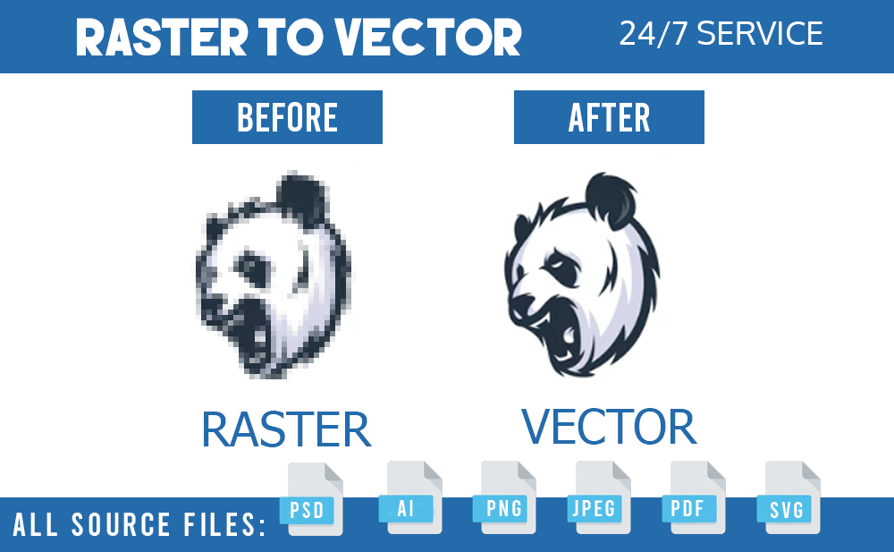 redesign,  update and vectorize your logo and raster image