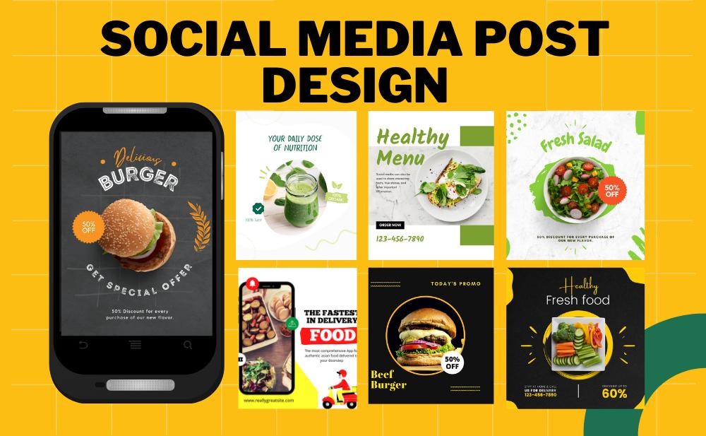 design social media posts,  ads and banner design