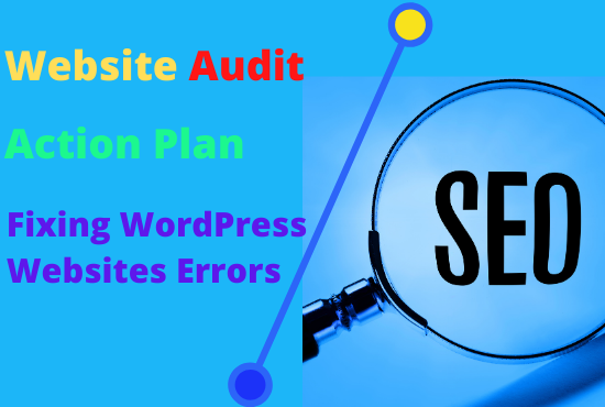 I will do SEO audit with effective action plan and wordpress site error fixing