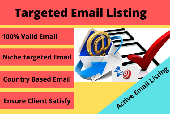 I will collect 2000email list based on your targeted niche or country