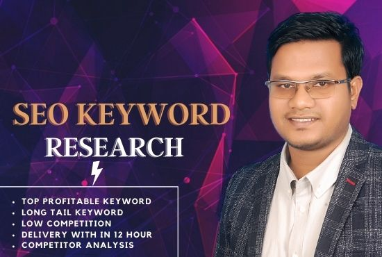 I will provide you excellent SEO keyword research and competitor analysis