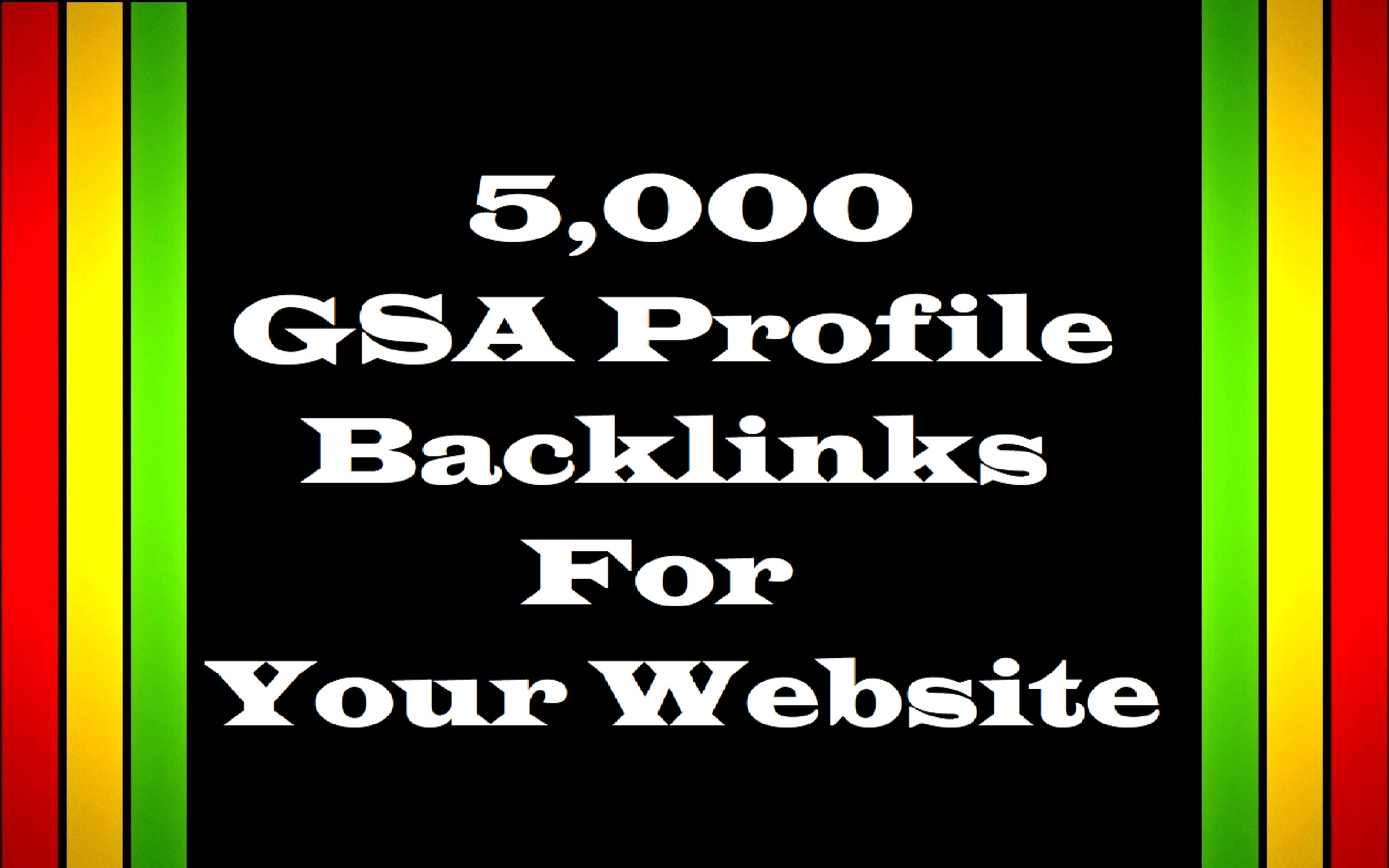Create 5,000 Profile Backlinks For Your Website by GSA