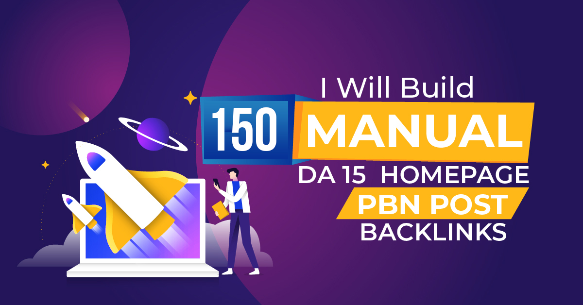 150 Manual PBN Homepage Posts backlinks On higher DA PA
