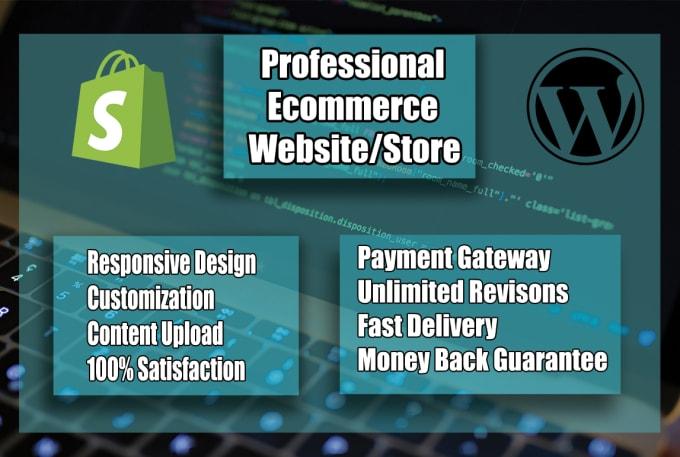 I will create ecommerce website online store and wordpress website