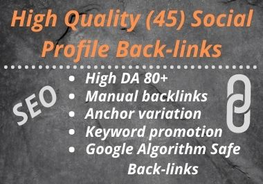 2021 Special -New Social Profiles Backlinks On Your Website