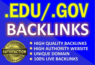 Create 15. Edu /. Gov high authority profile backlinks