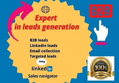 I will do targeted B2B lead generation in LinkedIn and web research