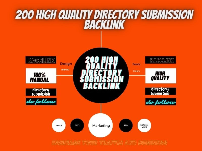 200 high quality directory submission backlink