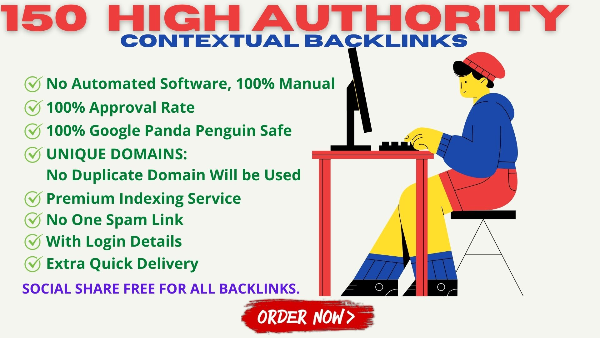 I Will Boost Your Website Rankings With 150 Contextual High Authority Backlinks