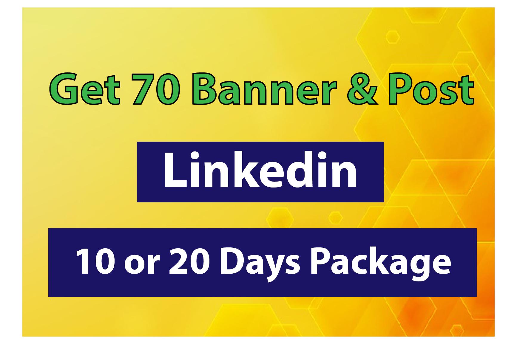I will design 70 unique Linked banner & post design