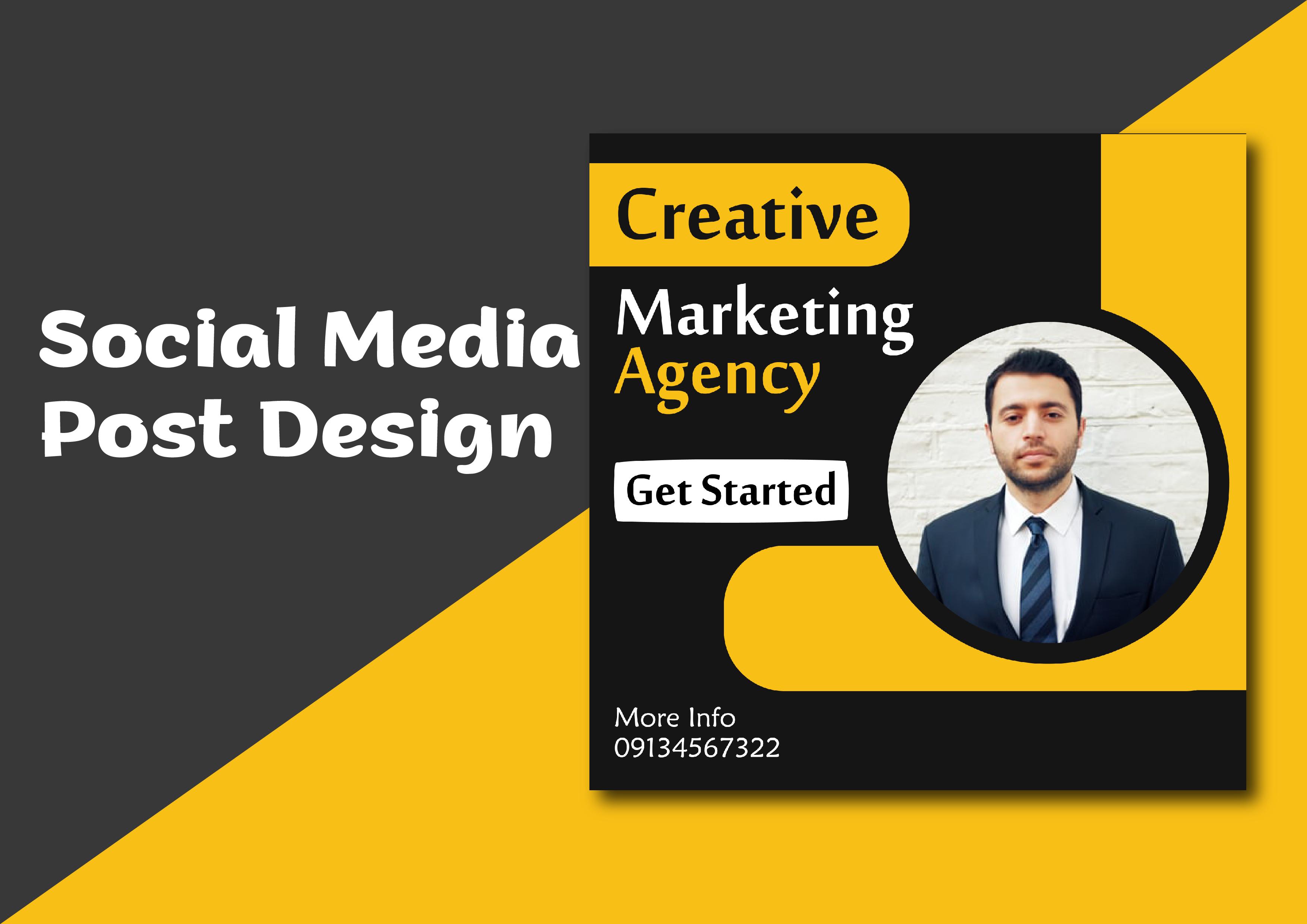 I will design social media post design.