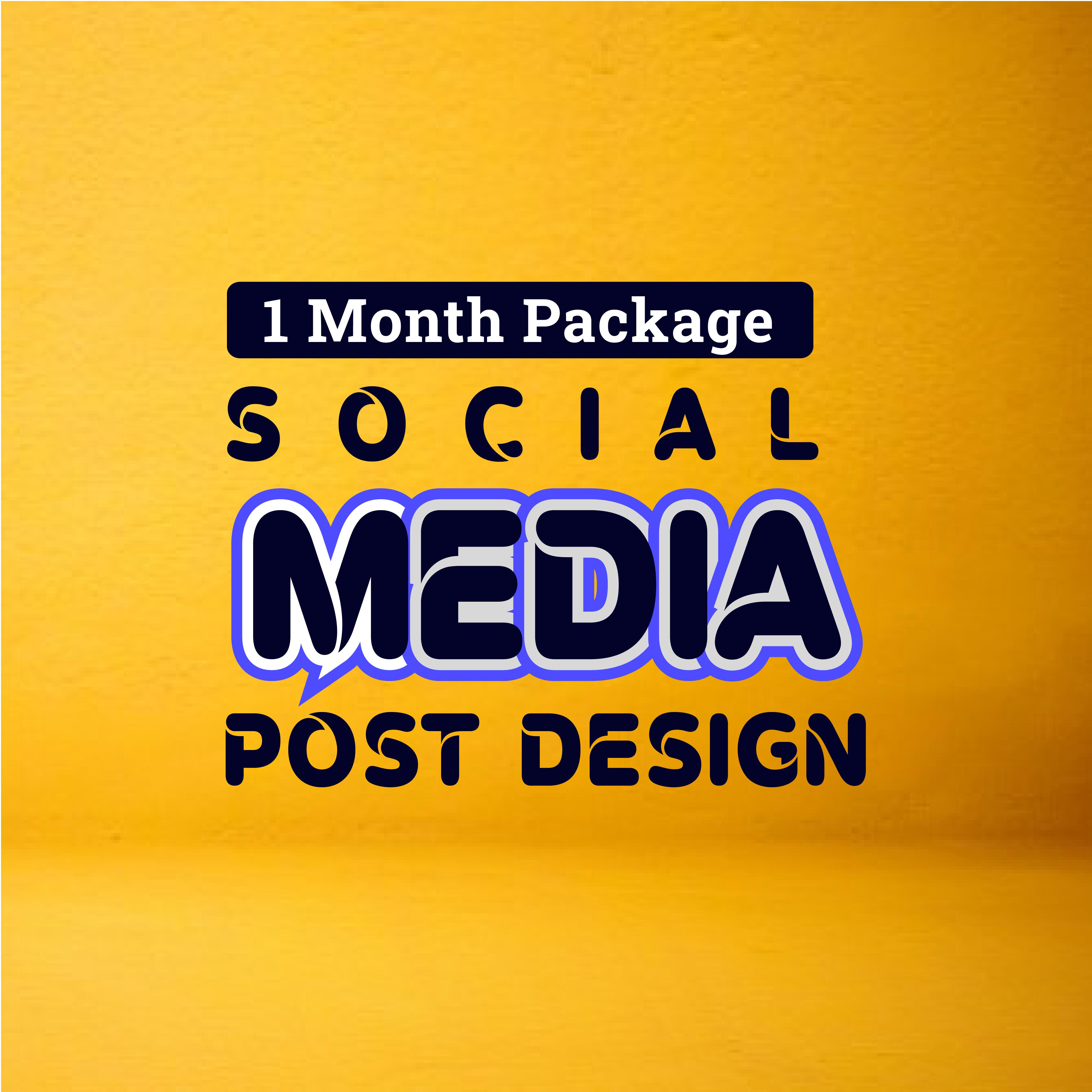 social media design monthly package