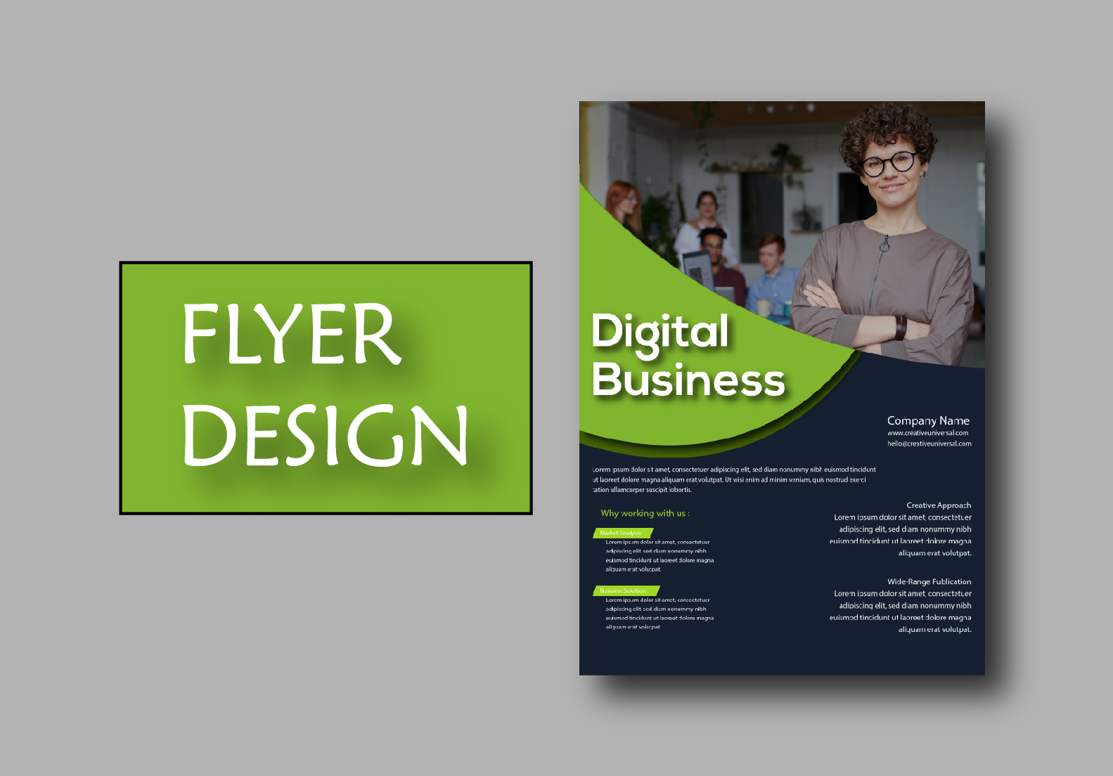 I will design a professional flyer.