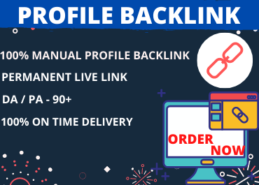 I will create 25 profile backlink for your site traffic boost
