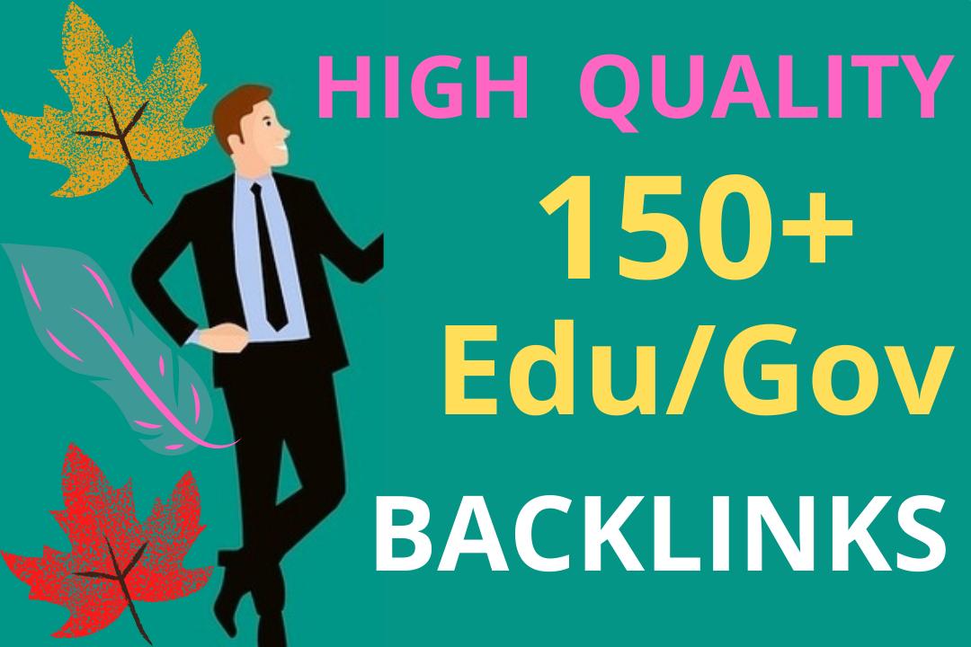 Create 150+ HQ Domain permanent edu gov Backlinks