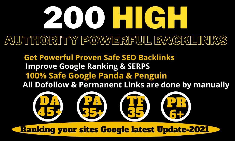 200+ Permanent Backlinks Web2.0 With High TF CF DA PA Do-follow Links Homepage Unique website/video/