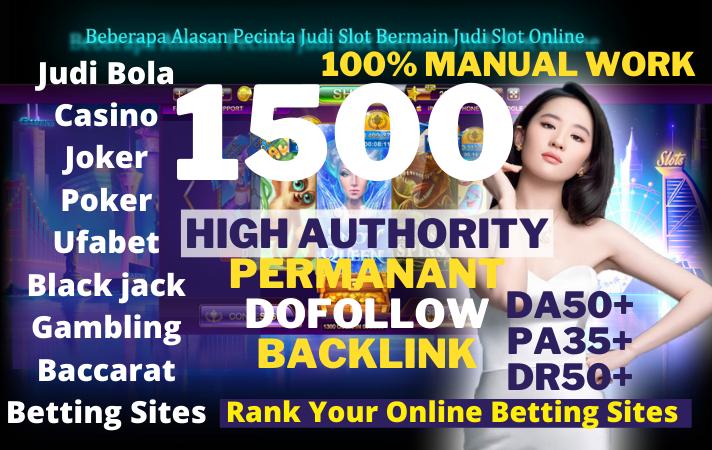Buy 1 get 1package free 1500 Dofollow Web 2.0betting/Baccarat/Casino/Gambling/Poker/Judi BOLA