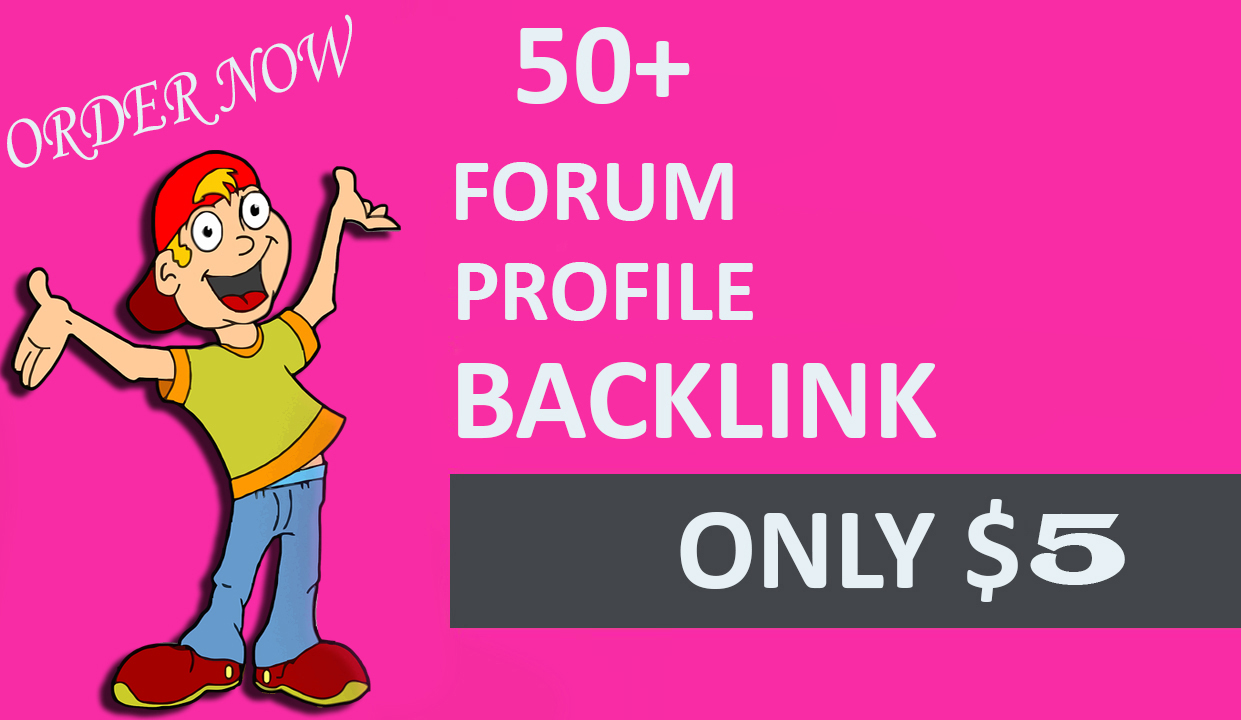 50+ High Quality Forum Backlinks