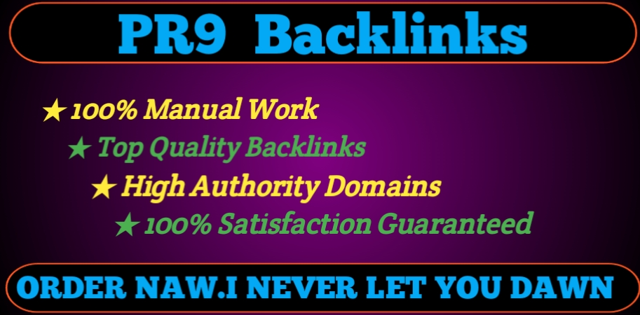 I will Build 20 PR9 SEO Optimized Backlinks