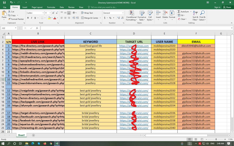 I will Provide 50 HQ Directory Submission backlinks DA 70+