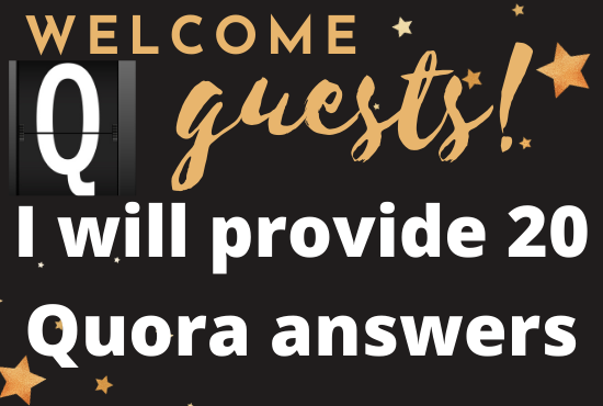 I Will provide 20 Quora question answer with backlinks for your website