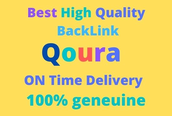 Promote your website with 10 HQ Quora answer Backlinks