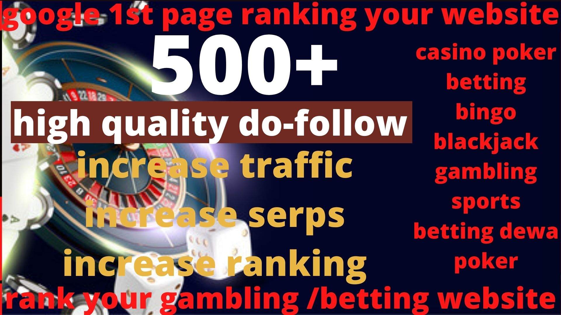 Buy x2 and get 1 Absolut 500 powerful Casino,  Gambling,  Poker,  Sports High Quality Web2.0 Backlinks