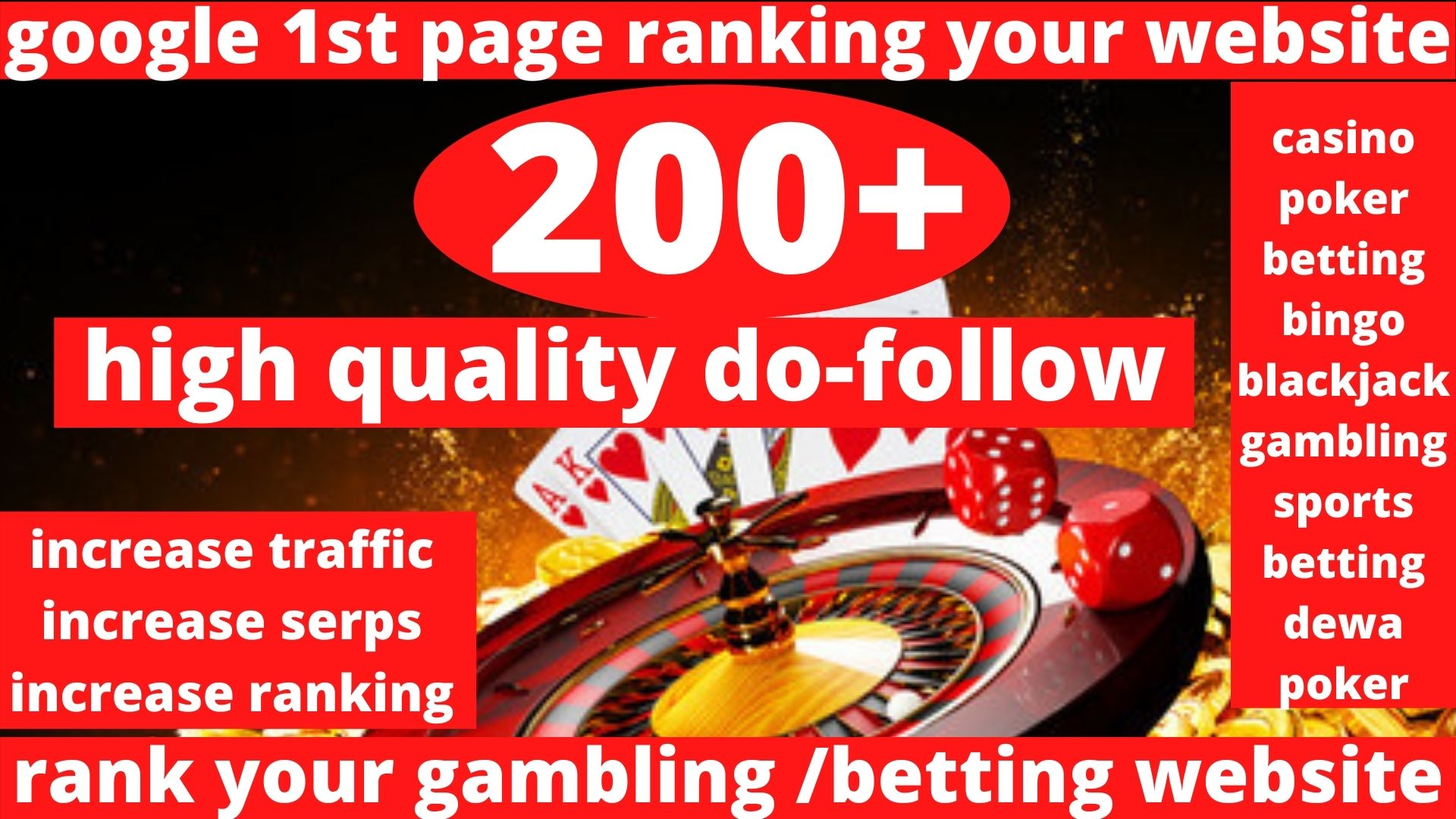 Buy x5 and get 3 Absolut 200 powerful Casino,  Gambling,  Poker,  Sports High Quality Web2.0 Backlinks