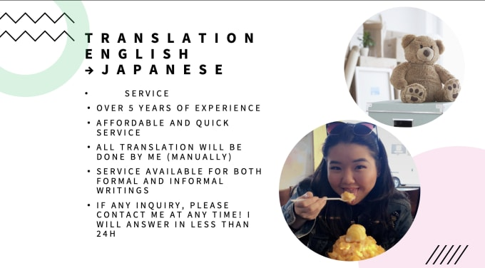 I will translate english to japanese