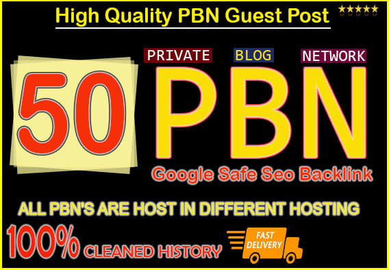 I will do 50 PBN dofollow High DA PA homepage parmanent backlinks for 20