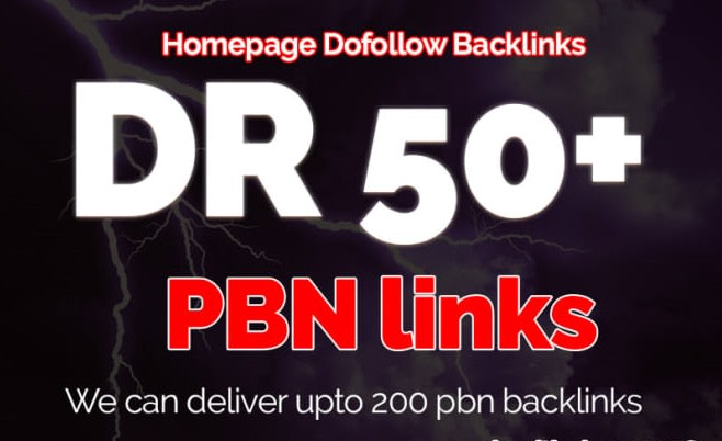 Get 4 Permanent DR 50+ Homepage PBN Dofollow Backlink