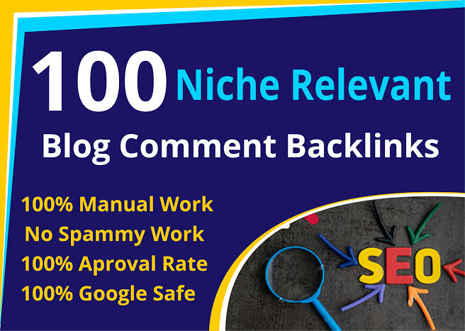 I submit 100 niche relevant blog comment seo backlinks