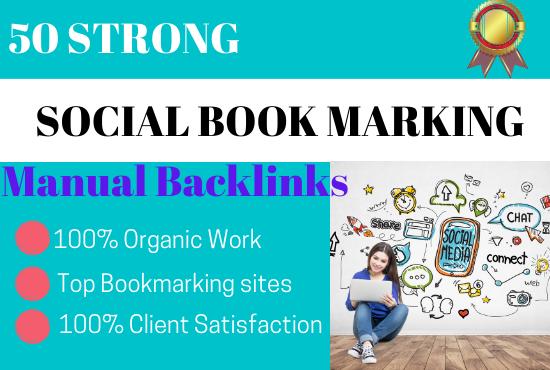 50 social bookmarking on high da backlinks