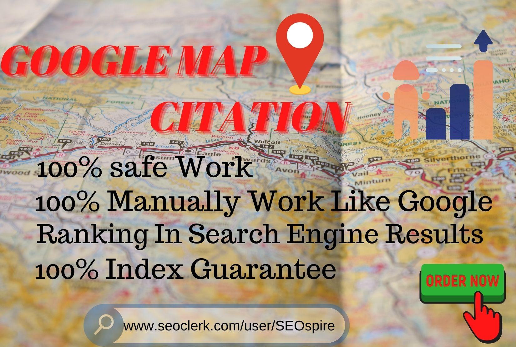 Build Manually 250 google map citations for local SEO
