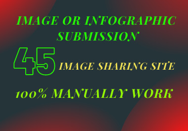 I will do Image or Infographic Submit to 45 High PR Photo Sharing Sites