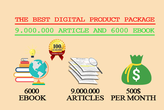 the best digital product package 9,000,000 articles and 6000 ebooks