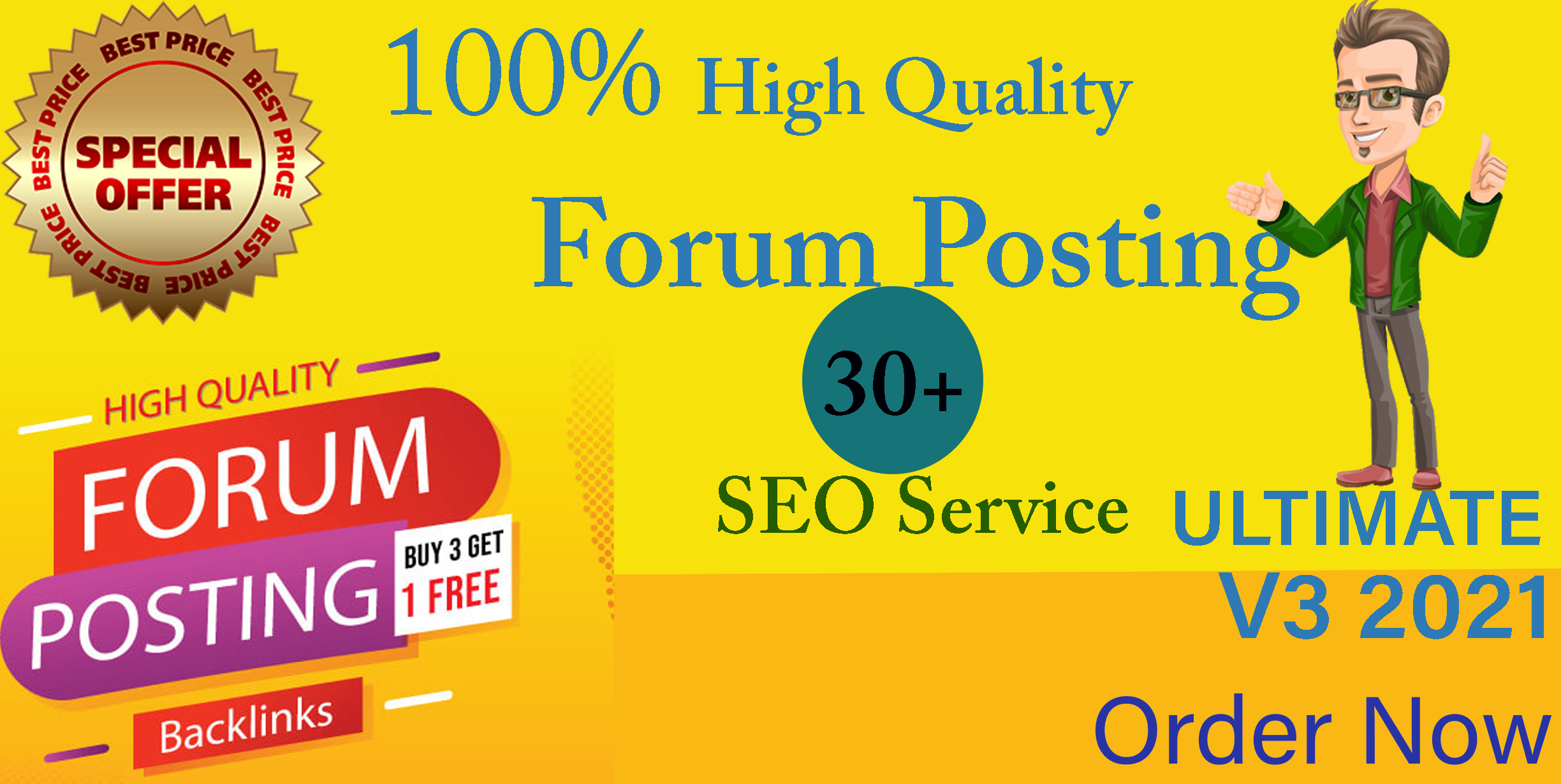 I will 30+high quality niche relevant forum posting for you