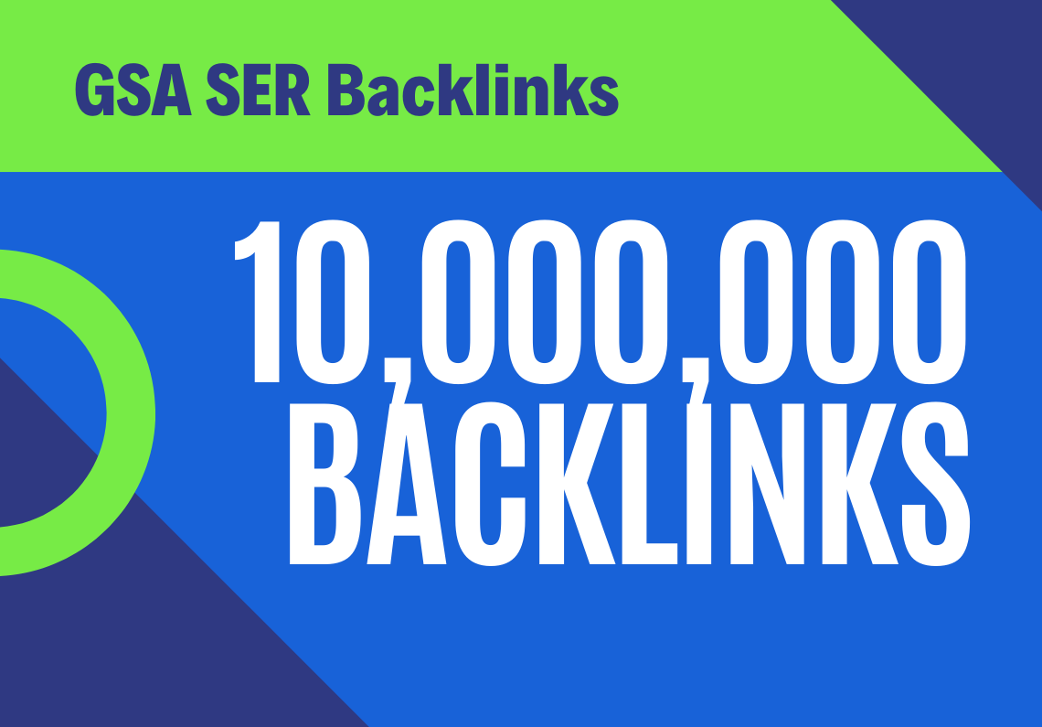 100 Dofollow 10.000,000 Backlinks Fast Indexing for websites,  videos,  stores shops