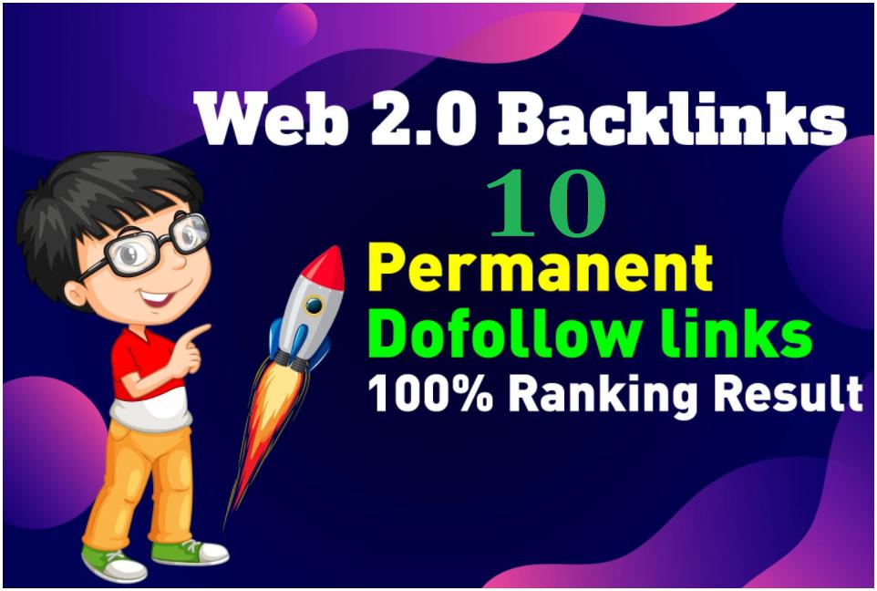 I Will Establish 10 guide Website 2 0 backlinks contextual website link making