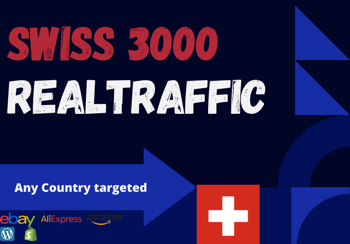 Swiss website Real person 3000 traffic low bounce rate google analytics trackable