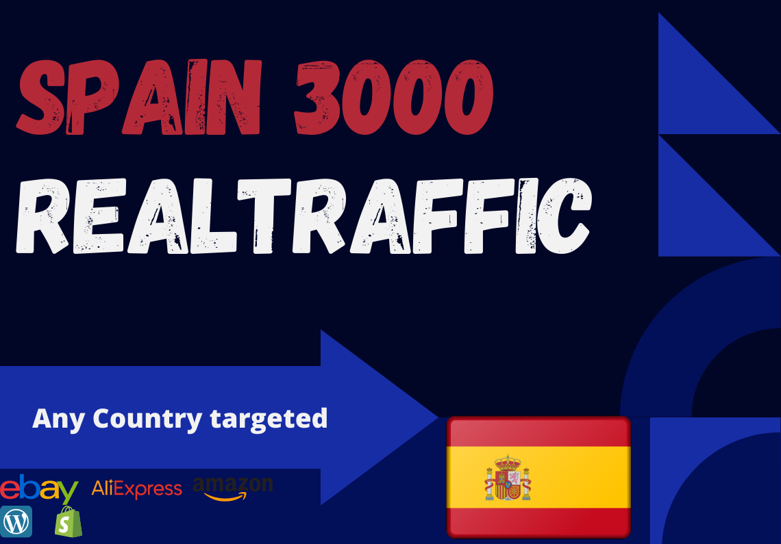 Spain website Real person 3000 traffic low bounce rate google analytics trackable