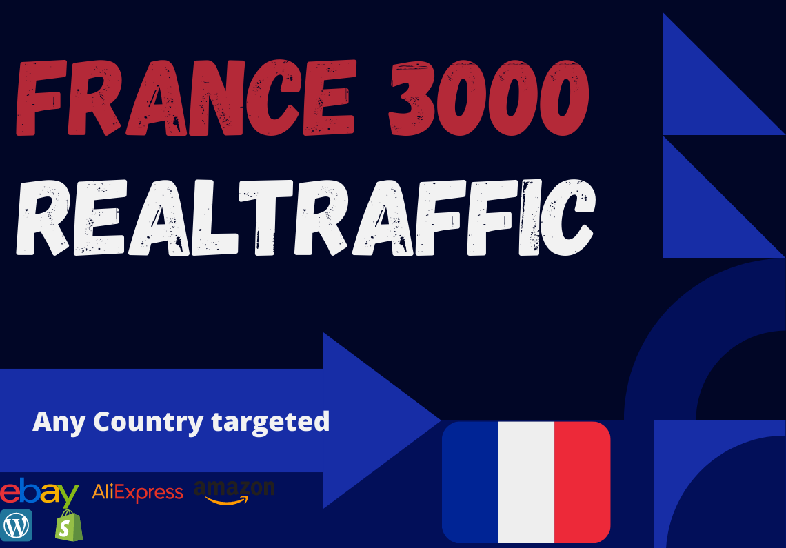 France website Real person 3000 traffic low bounce rate google analytics trackable