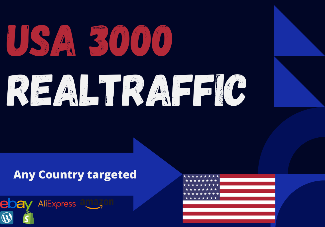 USA website Real person 3000 traffic low bounce rate google analytics trackable