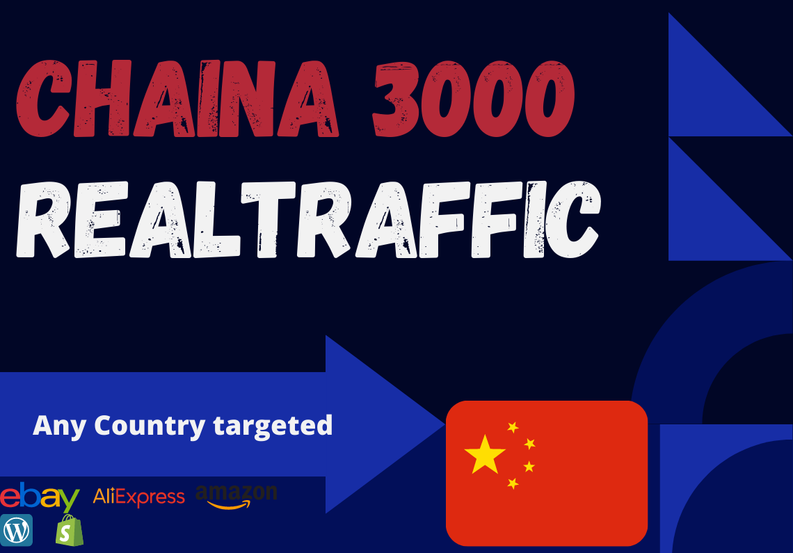 China website Real person 3000 traffic low bounce rate google analytics trackable