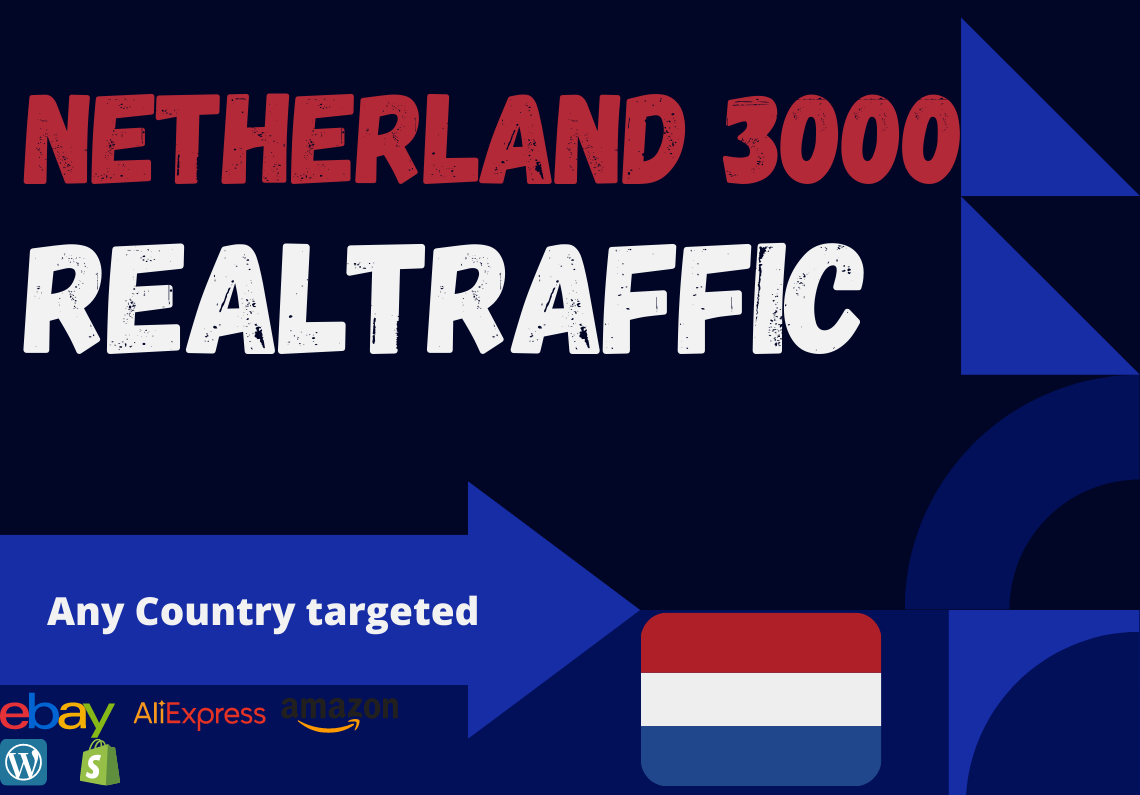Netherland website Real person 3000 traffic low bounce rate google analytics trackable